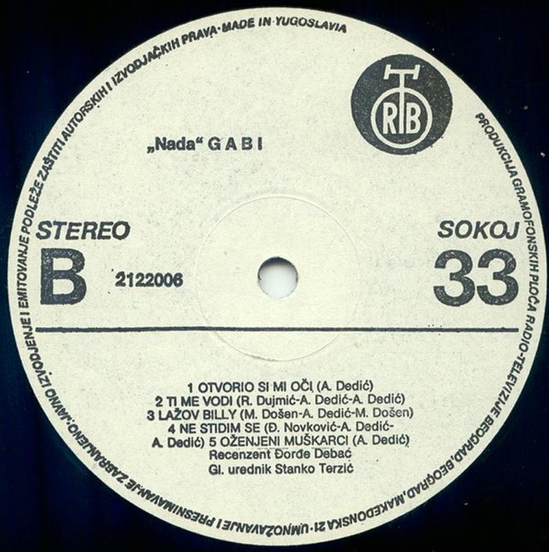 Gabi Novak 1985 Nada vinil 2