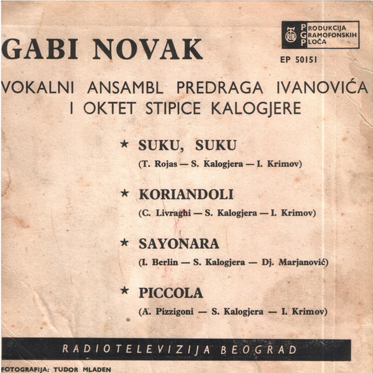 Gabi Novak 1961 Suku Suku b